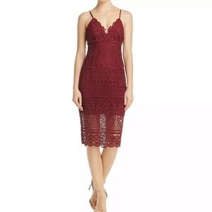 Bardot Wine Dress NWT